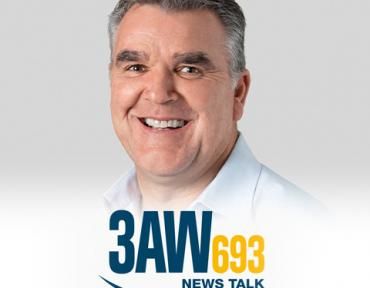 Image of Paul Bennett with 3AW logo
