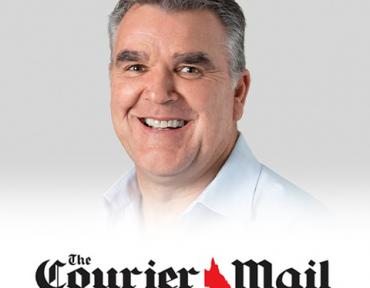 Image of Paul Bennett with Courier Mail logo
