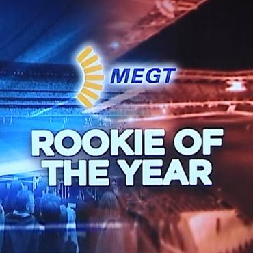 Image with MEGT logo and text Rookie of the year