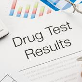 Drug test results file