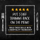 Put staff training back on the menu