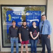 Jason White – ANL Operations Manager,  Corey Speechley – ANL apprentice, Anna Millar – ANL apprentice, Clint Coghlan – MEGT Customer Service Officer – Field